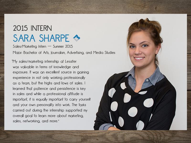 Intern 2015: Sara Sharpe