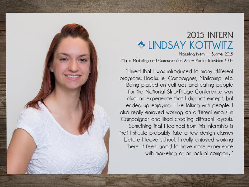 Intern 2015: Lindsay Kottwitz
