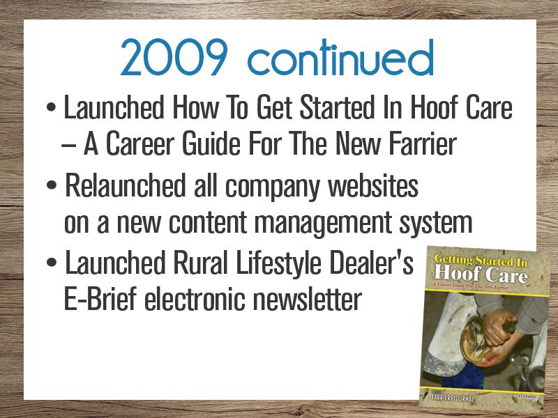 Timeline: 2009-2